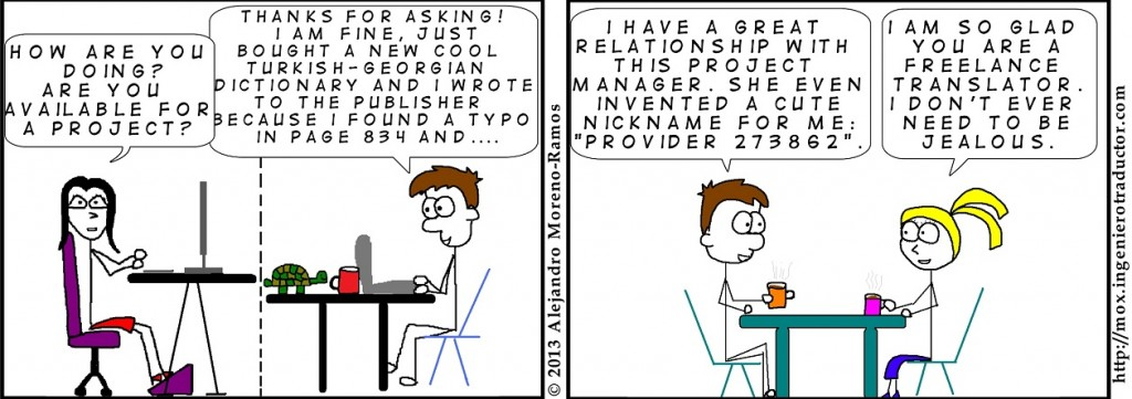 relationship between project manager and translator